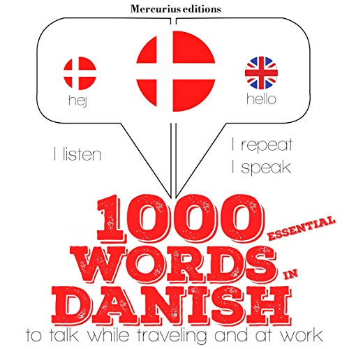 1000 essential words in Danish cover art