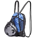 Drawstring Bag with Mesh Net - Sackpack with Net for All Sports and Swimming
