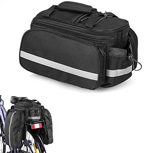 LQKYWNA Cycle Porte-bagage Haute Capacité Sacoche Vélo Paquet Plateau Avec Housse de Pluie pour Vélo Randonnée Camping