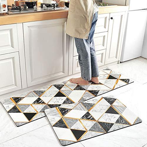 HLXX Alfombras Modernas para Cocina, alfombras para el Suelo del área del sofá del hogar para la Entrada de la Sala de Estar, Felpudo Lavable Antideslizante A8 40x60cm