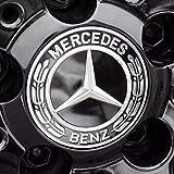 【Mercedes-Benz純正】 メルセデス ベンツ センターキャップ ブラック 4個セット