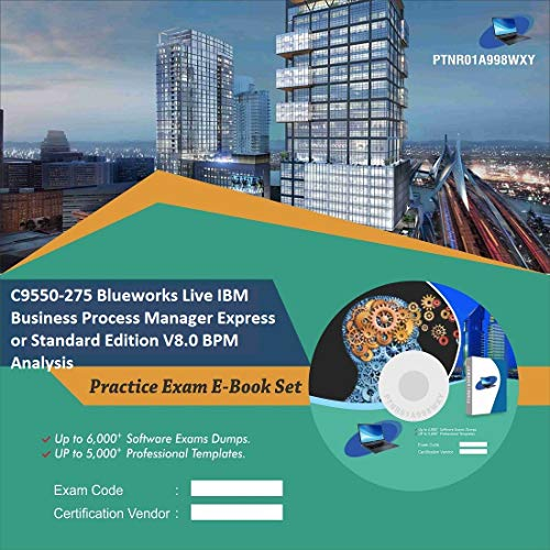 C9550-275 Blueworks Live IBM Business Process Manager Express or Standard Edition V8.0 BPM Analysis Complete Video Learning Certification Exam Set (DVD)