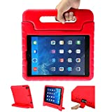 LEADSTAR Funda para Nuevo iPad 9.7 Tableta Caso de Los Niños a Prueba de Golpes Luz Peso Mango Soporte Super Protección Cubierta para Apple iPad Air/iPad Air 2 / iPad 9,7 2017/2018 Tablet (Rojo)