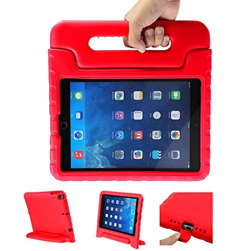 LEADSTAR Funda Para Nuevo iPad 9.7 Tableta Caso de Los Niños a Prueba de Golpes Luz Peso Mango Soporte Super Protección Cubierta para Apple iPad Air / iPad Air 2 / iPad 9,7 2017 / 2018 Tablet (Rojo)