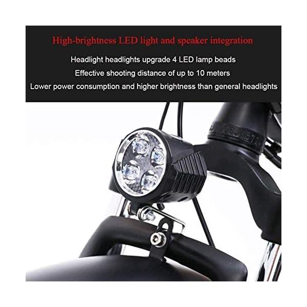 51azbQ1x6BL. SS600  - Elektrofahrrad klappbares für Erwachsene 500W Elektro-Klapprad Berg Schnee E-Bike Rennrad 15Ah 48V Lithium-Batterie 20-Zoll-Fat Tire 7 Variable Speed mit Dual-Scheibenbremsen bis zu 100 Kilometer