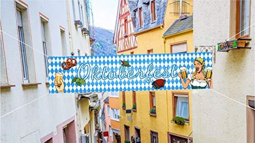 XXL Banner 40 x 150 cm Wiesn Deko Dekoration zum Aufhängen für Ihr Oktoberfest Dahoam (Banner)