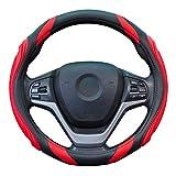 ZATOOTO ハンドルカバー 軽自動車 シリコーン レザー おしゃれ sサイズ 手触りよし ステアリングカバー グリップ感よし レッド YWLY82-R