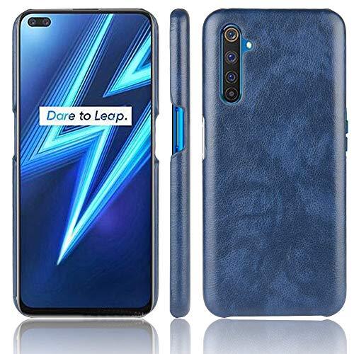 Haoye مناسب لغطاء Oppo Realme X50 PRO 5G ، في جلد PU الرقيق الواقي يحمي من حالات السقوط المتينة والمتينة للغاية ألوان أنيقة. أزرق