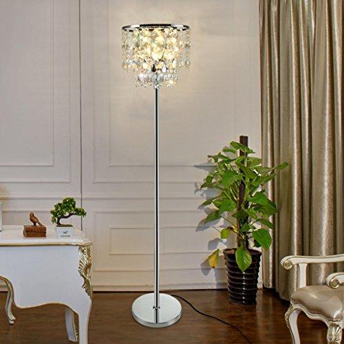 ZIXUANJIAXL Stehende Stehlampen Kreative Post-Moderne Luxuxkristallglas Stehlampen, Kristall-Nachttischlampe Schlafzimmer Wohnzimmer einfache und Moderne Stehleuchte
