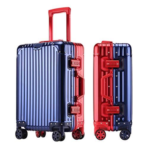 S.perfect Aluminum-magnesiumlegering aluminium trolley koffer common metal zakentas vergelijking Vrouw Man