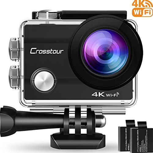 Crosstour 4K WiFi Action Camera Ultra HD Underwater Sport Cam 98ft 2
