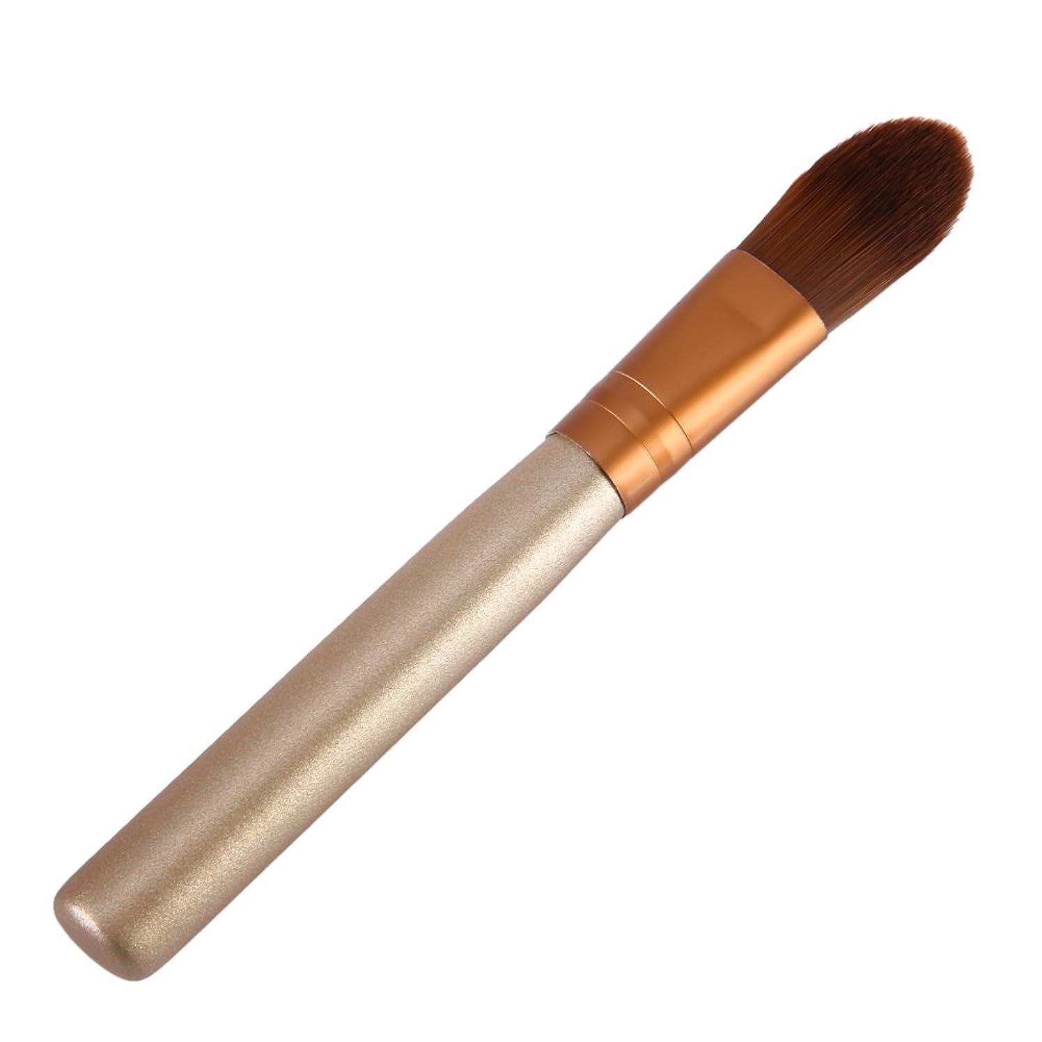 フライト適応的産地Yumbyss - トップゴールドブラウン財団ブラシメイクは、アイシャドウ化粧品のツール美容pincel木製ハンドルMaquillajeブラシ