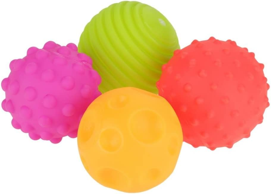 GLOGLOW 4PCS Sensor Ball Set Hand Textured Cheap bargain Toys Max 60% OFF Baby Touch