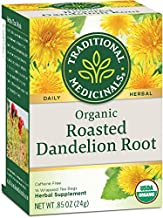 Traditional Medicinals Organic Roasted Dandelion Root Herbal Tea, 16 Tea Bags (Pack of 6)