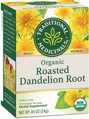 Traditional Medicinals Organic Roasted Dandelion Root Herbal Leaf Tea, 16 Tea Bags (Pack of 6)