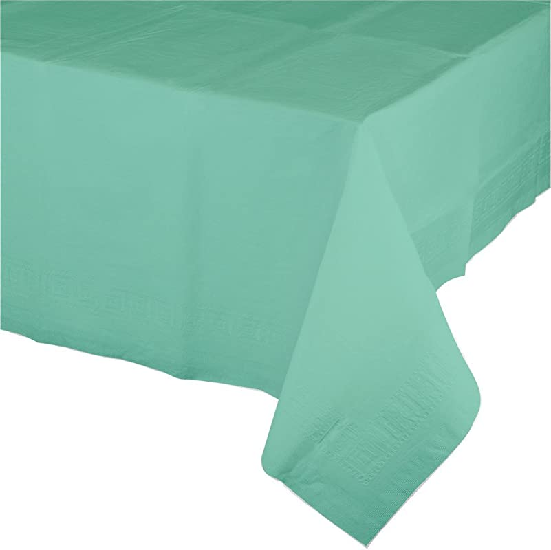 Creative Converting 318896 Touch Of Color 6 Count Paper Table Covers With Poly Backing Fresh Mint