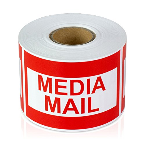 300 Labels - 2x3 Media Mail Mailing Shipping Labels Stickers