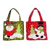 Leisial 2 Stücke Weihnachten Handtasche Kreatives Weihnachten Geschenktüte Weihnachtsbeutel Weihnachten Süßigkeiten 28 * 17CM