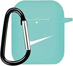 AirPods Case Cover Silicone Protective Cover Skin Compatible with AirPods 2 & 1-Mint Green