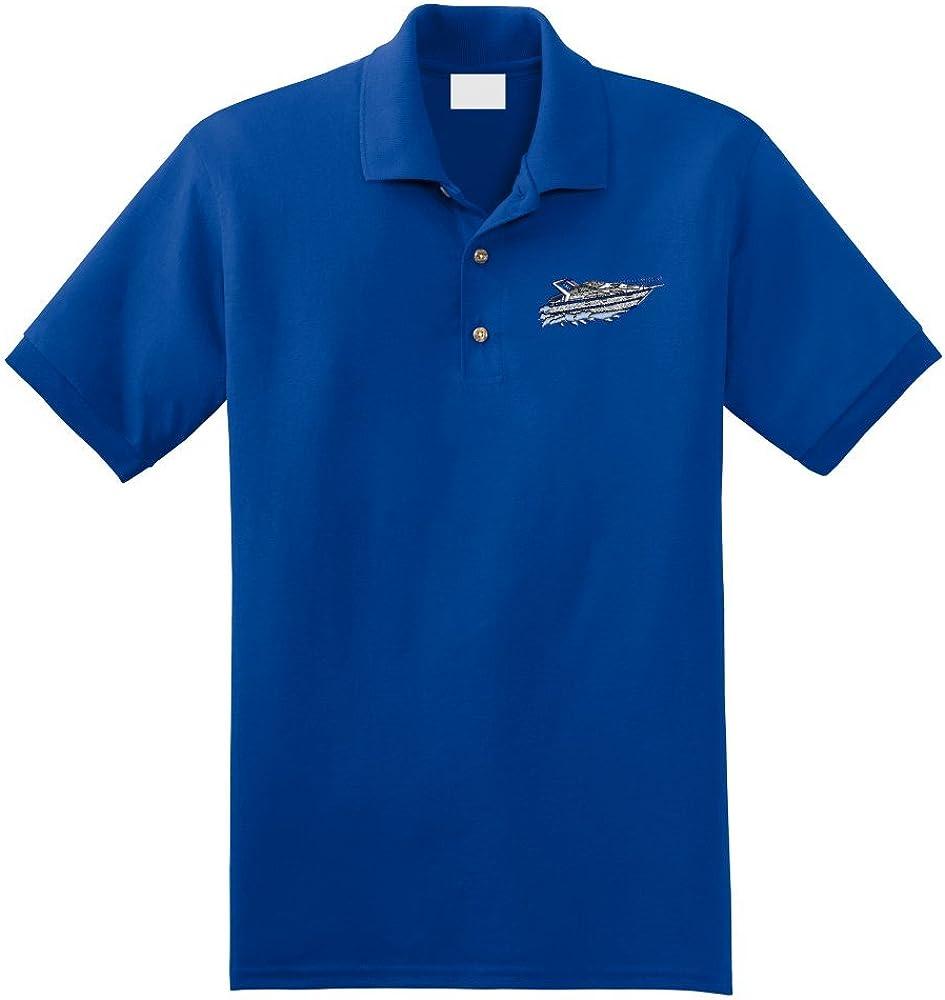 Custom Embroidered Cabin Cruiser Boat Polo Shirt