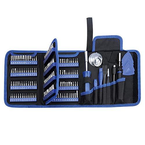 Juego de destornilladores de precisión, 170 en 1, kit de herramientas de reparación electrónica profesional para teléfono, portátil, PC, reloj, electrónica y más