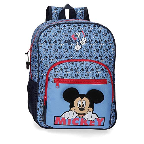 Disney Mickey Moods Sac à dos adaptable au chariot Rouge 30x38x12 cms Polyester 13.68L