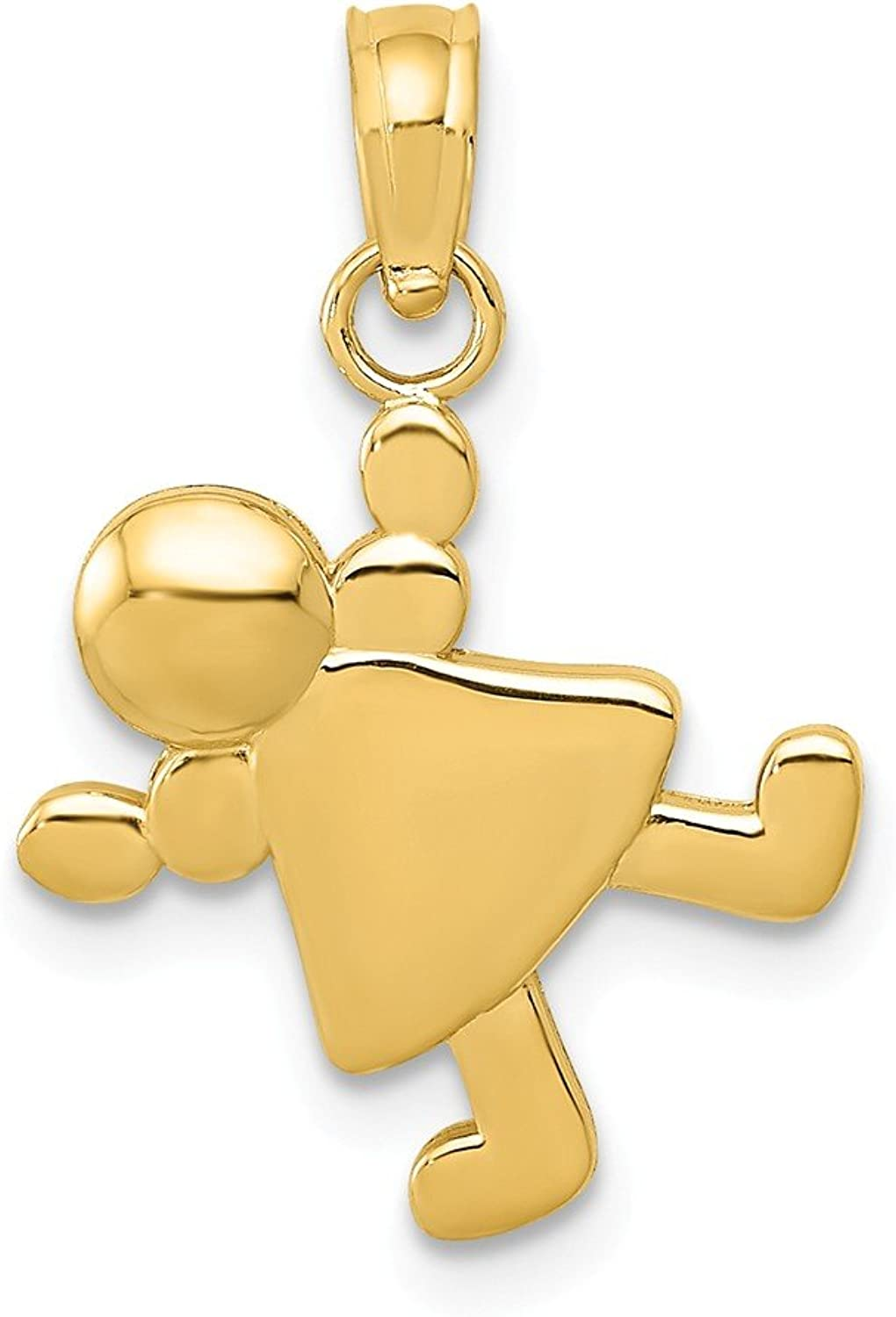 14k Yellow gold Little Girl Charm