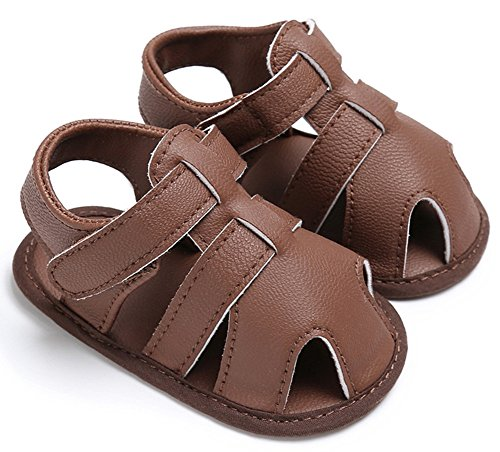 ILVWhips Summer Baby Boy Shoes 0-1 Years Old Sandals Baby Toddler Shoes (11cm(0-6 Months), Brown)