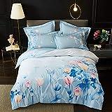 yaonuli Baumwolle Active Twill Print vierteilig Baumwolle vierteilig Set Morris Standard (Bettbezug 200 * 230 Blatt 250 * 250)