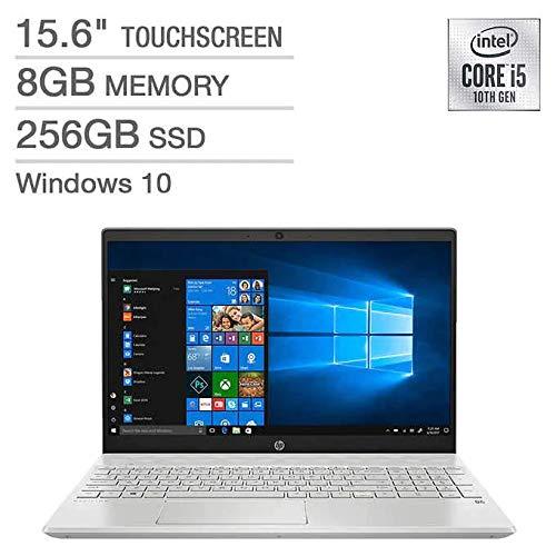 HP Pavilion 15.6-inch FHD Laptop, Intel 10th Gen Quad-Core i5-1035G1 Processor, 8GB DDR4 Memory, 256GB SSD, WiFi, Bluetooth, Windows 10 Home, Silver