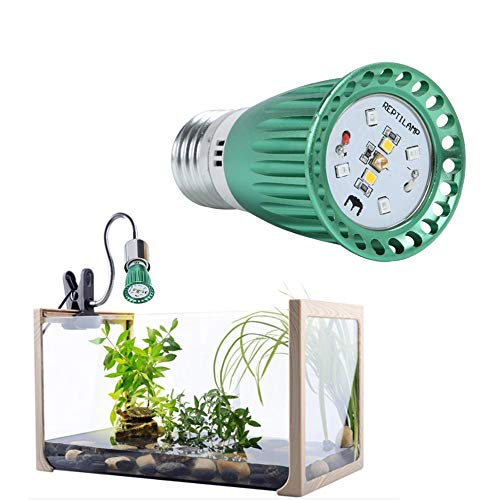 UVB 10.0 LED Bulb and Fixture, Reptile Turtle Light LED UVA + UVB Sun Lamp for Reptiles, UVB Reptile Light 10.0