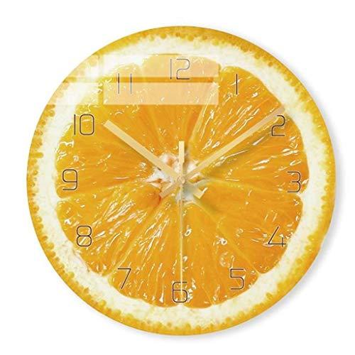 Smile Silencioso Reloj de Pared sin tictac, Amarillo Elegante, Fruta, audaz, clásico, Reloj de Pared de Cuarzo, sin tictac Silencioso (30 cm / 12 Pulgadas de diámetro), Hogar/Cocina/Oficina/Relo