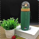NYSJLONG Botella de Agua para niños Preciosa Princesa Micro Paisaje Bosque Taza de vacío de Acero Inoxidable Tazas portátiles contratadas Creativas Termo Regalo para niños