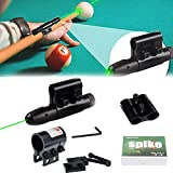 MUSJOS Billiard Sights, Pool Cue Láser Síght, Billiard Síght Auxiliary Collimation Training Device,Red/Green Light Cue Láser Síght WithBracket, Beginners Precise Guide, Billiard Cue Types (Green)