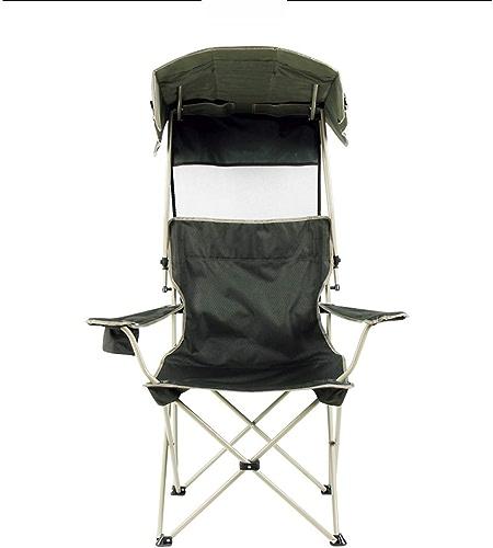 Folding chair Chaise Pliante en Plein Air Parasol Chaise De Plage Chaise De Camping Portable Chaise Loisirs Parapluie Chaise Portant 330 Livres (Couleur   Vert)