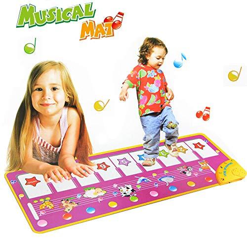 Jenilily Piano Music Matte Noten-Spiel-Tastatur Musikspielzeug 100x36 cm Kinder Tastaturen Singen Spaß Lernen Lernspielzeug Jungen Mädchen