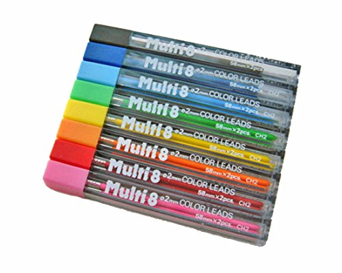1 Set of 8 Pentel 2mm Color Refills for PH158 Bible Highlighter Pencil Quality Product Made in Japan