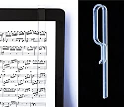 Clear Acrylic book page holder that does not hides the text behind