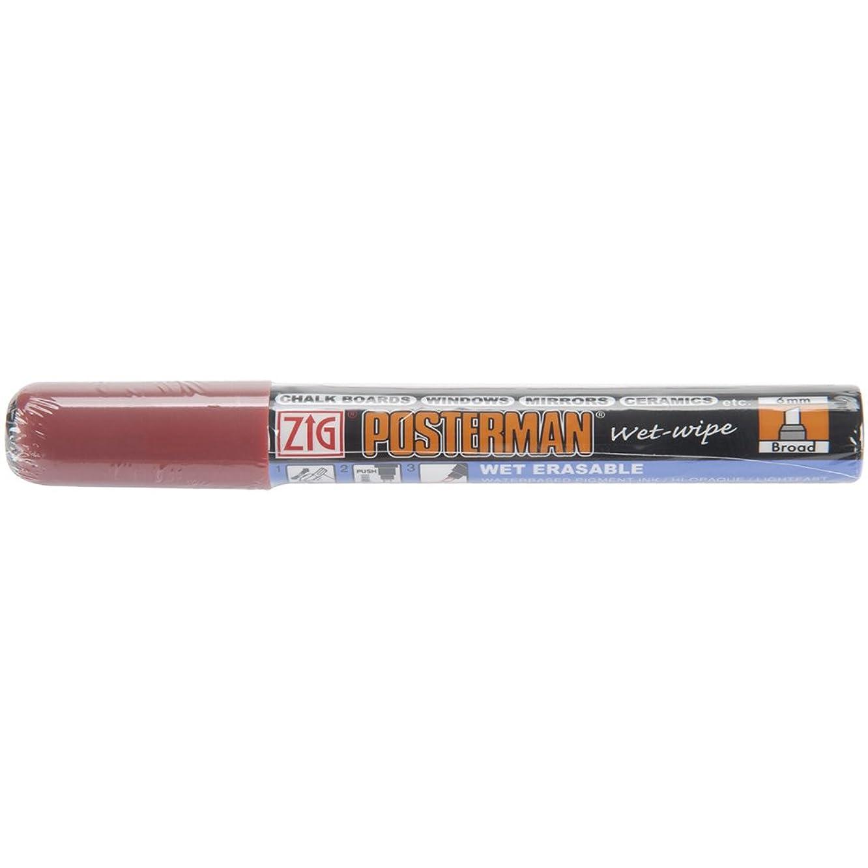 Zig 6mm Posterman Broad Tip Wet Wipe Marker, Jubilee Cherry