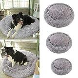 Canapé confortable lavable très doux de lit d'animal familier de lits de chien, coussins ronds imperméables de lit de nid de chats de beignet de peluche