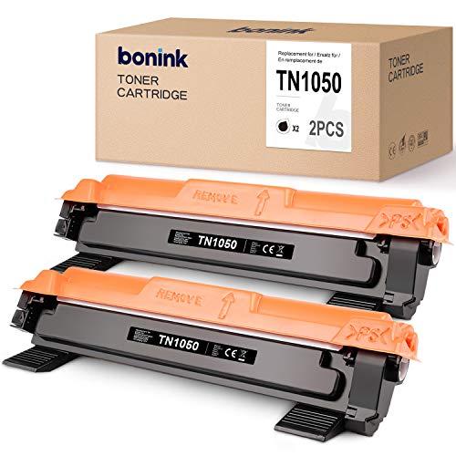 [Senza chip] BONINK Compatibili con Brother TN-1050 TN1050 Cartuccia del Toner per Brother DCP-1510 DCP-1612W DCP-1610W HL-1110 HL-1112 HL-1210W HL-1212W MFC-1910W MFC-1810 (2 Nero)