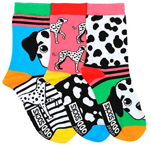 Dalmatiner Oddsocks Socken in 37-42 im 3er Set - Strumpf