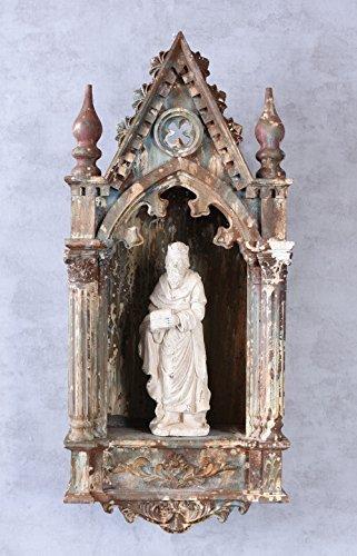 Hausaltar Heiligenfigur Sakral Altar Antik Wandaltar Gotik Schrein Heiliger Palazzo Exklusiv