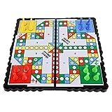 internationales schach LMH Ludo 21 * 21 * 2cm Fliegende Schach Mini Magnetische Reise Spiel Ludo fliegende Schach Falten Fliegende Schach Tragbare Funny Familienspiel Ludo magnetisches