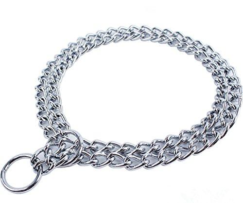 JWPC, guinzaglio per cani di piccola e media taglia in metallo, catena doppia