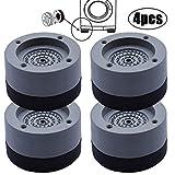 4 Piezas Almohadillas Antivibración Lavadora, Almohadillas Goma Antivibración para lavadora, para Todas las Secadoras de Lavadora, 4 cm