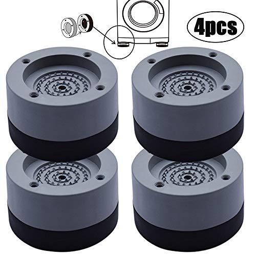 4 Pezzi Piedini per Lavatrice, Piedini per lavatrice Antivibrazione, Ammortizzatore Vibrazione per Lavatrice in Gomma, per lavatrice e Asciugatrice, 4 cm