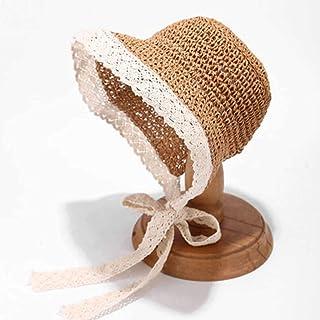 SONGYU Visières Dentelle, Femme Bandage Chapeau de Soleil Manuel Chapeau été Voyage Chapeau de Paille Loli pli Chapeau de ...