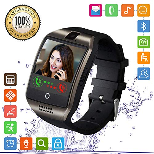 FENHOO Smartwatch, SN06 Smart Watch Phone con SIM Card Slot Camera Touch Screen Orologio Intelligente Cellulare per Android Samsung Huawei Xiaomi iOS iPhone 11 X 8 7 6 6s 5 Uomo Donna Bambini (Nero)