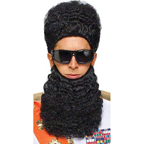 Arab Dictator Wig & Beard Set Costume Accessory